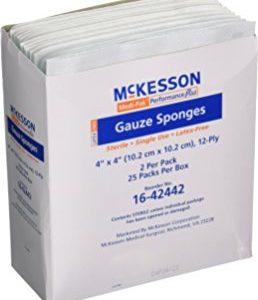 McKesson Sponge Dres Topp 4X4 2 5