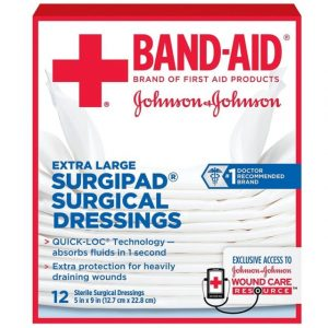 Band-Aid Surgipad Surgical Dressing 5X9 12s