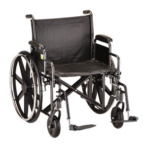 "Nova Heavy Duty Wheelchair Rental Bariatric. 20"" seat shown."