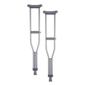 nova crutches adult aluminum. Traditional silver and grey crutches.
