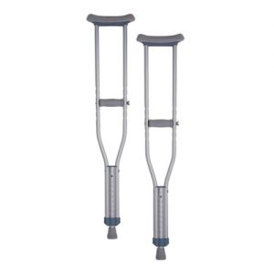 nova crutches youth. traditional silver and grey crutch style.