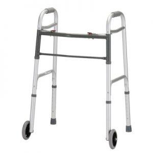 "Nova heavy duty bariatric walker with 5"" wheels folding"