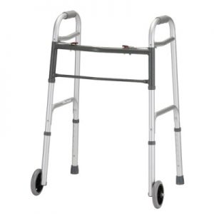 "Nova heavy duty standard walker. Two-tone grey. 5"" wheels."