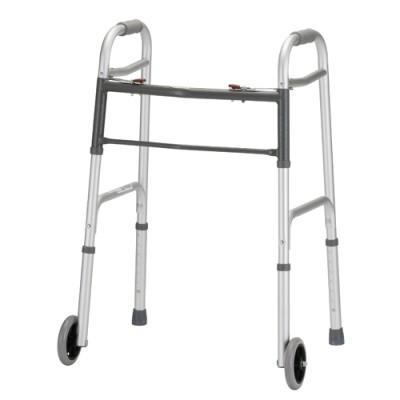 """Nova heavy duty standard walker. Two-tone grey. 5"""" wheels."""