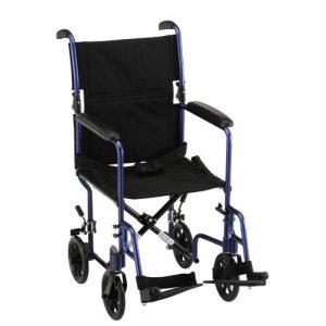 Nova transport wheelchair chair fixed arms adjustable leg rests lightweight light