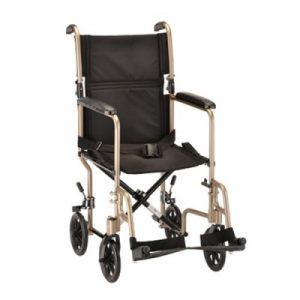 Nova transport wheelchair chair champagne tan khake color 19inch lightweight light