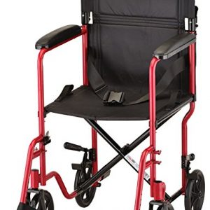Nova transport wheelchair chair red lightweight transportable wheelchair