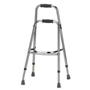 Nova folding side walker. Also called a hemi walker. No wheels, used like a large side-cane.