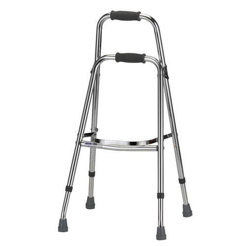 Nova folding side walker. Also called a hemi walker. No wheels, used like a large side-cane.
