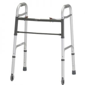"Nova petite folding walker with small 3"" wheels"