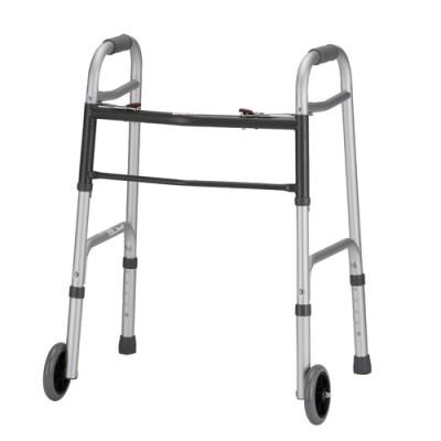 """Nova petite standard walker. Two-tone grey. 5"""" wheels."""