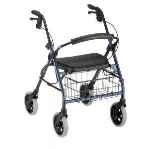 Nova Cruiser Deluxe rollator rolling walker with wheels basket padded seat