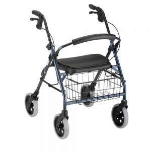 Nova Cruiser Deluxe rollator rolling walker with wheels basket padded seat