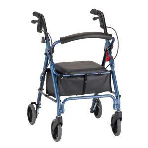 Nova get-go petite rolling walker with wheels rollator small seat