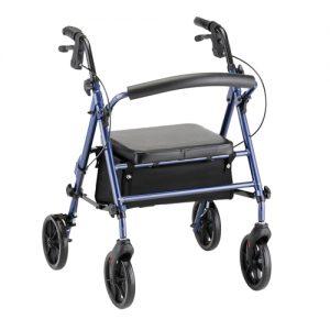 Nova groove rollator rolling walker with wheels stylish