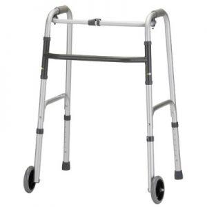 """Nova folding walker adult 5"""" wheels 1 button fold"""