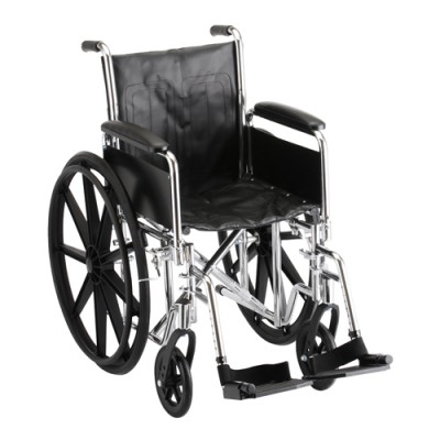 "Nova wheelchair 16"" detachable full arms with regular leg rests skinny small transport"