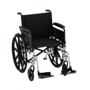 Nova lightweight wheelchair with standard legrests leg rests