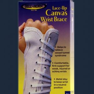 Bell-Horn Bell Horn Canvas Wrist Brace Lace up lace-up laced up wrist support
