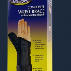 Bell-Horn Bell Horn Composite Wrist Brace Abducted Thumb Carpal Tunnel Thumb Stabilizer Wrist Cast Wrist Velcro wrap Compression