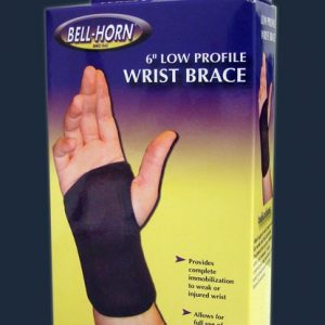 "Bell-Horn Bell Horn 6"" Low Profile Wrist Brace Carpal Tunnel Small Brace Support Velcro"