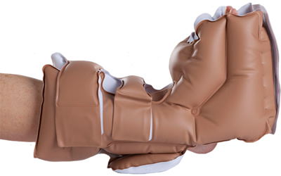 EHOB Ankle Elevator inflatable cushion. Used for sensitive feet, to avoid contact with fabrics on a bed.