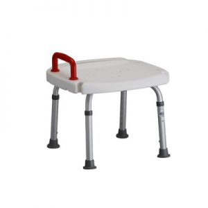 Nova bath bench seat chair with red handle safety