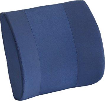 Nova foam lumbar cushion. Blue lumbar cushion with washable cover.