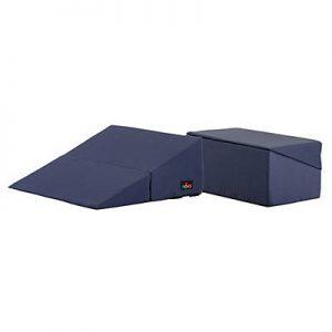 Nova folding bed wedge elevating cushion. Folding wedge cushion. Washable blue cover.