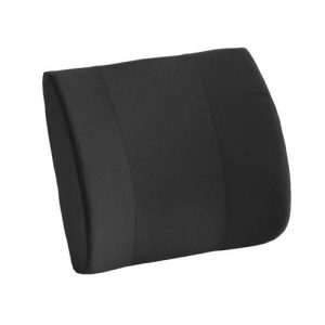 nova memory foam lumbar cushion. A black cushion with removable, washable cover.