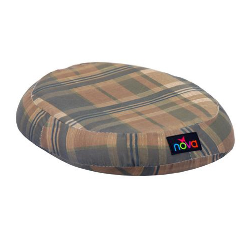 Nova molded foam comfort ring. A donut cushion with a washable plaid cover.