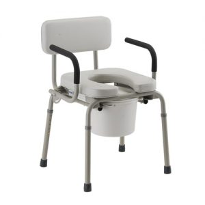 Nova padded drop arm commode toilet chair potty chair bathroom aid