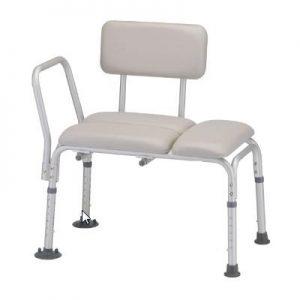 Nova padded transfer bench with back