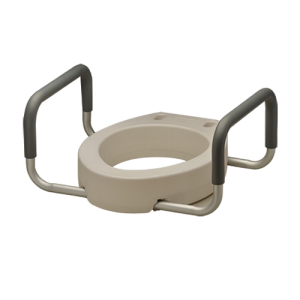Nova toilet seat with arms potty chair riser
