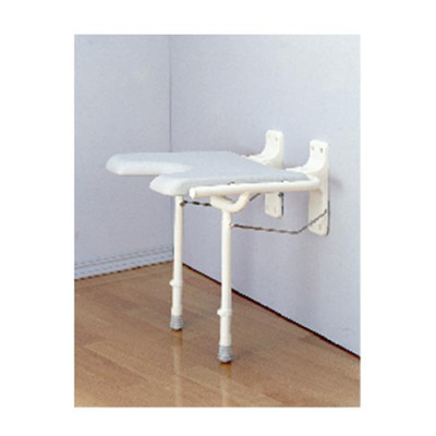 Nova Wall Mounted Shower Chair Seat Permanent Easy Install In Wall Shower  Chair