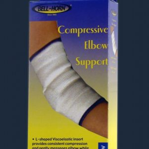 Bell-Horn Bell Horn Compressive Elbow Support Sleeve Wrap Compress Elbow Pain Relief