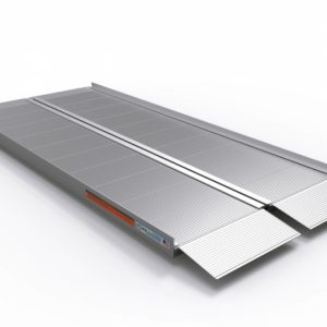 "EZ Access Ramps. A photo of a 6"" EZ Access suitcase ramp. Corrugated aluminum."