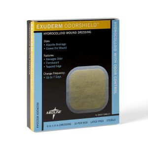 Exuderm Dressing Odorshield Hydrocolloid Bandage Advanced Wound Care Post Surgery Bandage