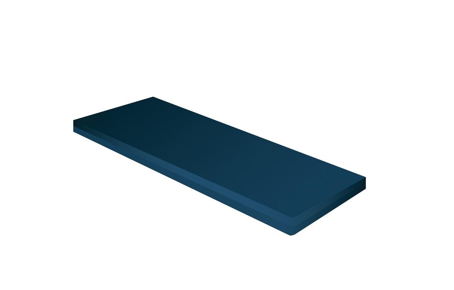 """Roscoe/Probasics standard foam mattress product image. A rectangular mattress covered by a washable navy cover. On a white background. Mattress dimensions 80""""x36""""x6""""."""