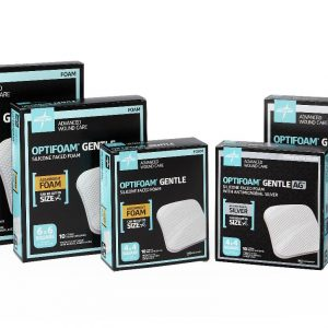 Optifoam Silicone bandages. many different sizes of boxes are available. Bandages sold in singles or boxes.