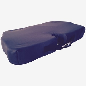 kabooti wide seat cushion in navy blue shown on a white background.