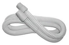 FLEXISLIM CPAP TUBING 6' DRK GRY. Shown coiled up on a white background.