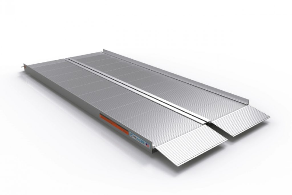 Ramp Rental default image. A silver EZAccess suitcase ramp is shown in the open position against a white background.