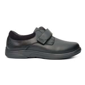 Anodyne Men's Casual Double Depth. A black dress shoe with a buckle over the middle of the foot.