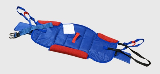 Bestcare Stand Assist Sling. A blue sling with red accents is shown on a white background.