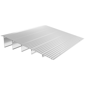 "EZ Access Transitions Modular Threshold Ramp. An aluminum ramp with a maximum height of 6""."
