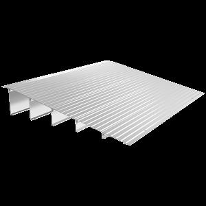 "EZ Access Transitions Modular Threshold Ramp. An aluminum ramp with a maximum height of 6""."