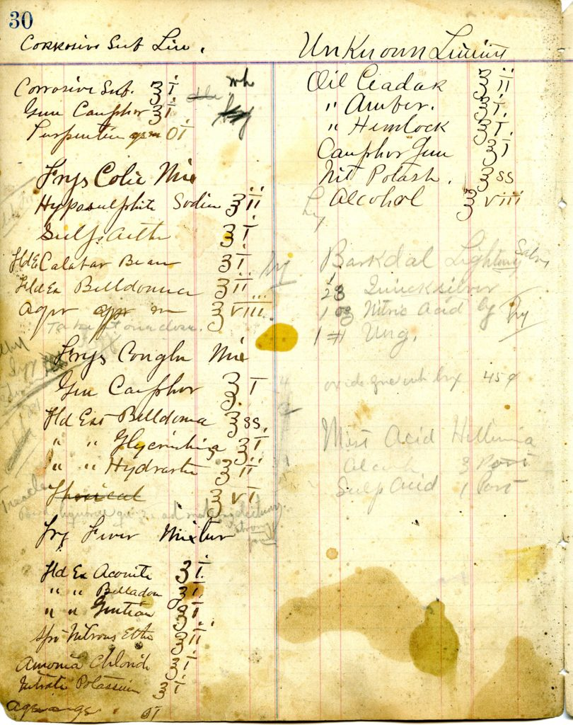 Oswald's 1915 Pharmaceutical Formula Book