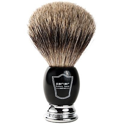 Parker BCPB Shaving Brush on white background.