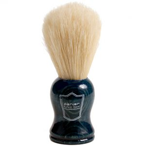 Parker BLBO Shaving Brush on white background.